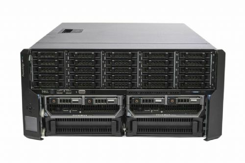 Dell PowerEdge VRTX Rack Chassis 25x Bay + 2x M620P 2x E5-2630L 16GB Ram 2x300GB